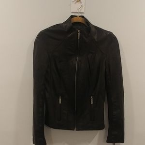 100% authentic Michael Kors leather jacket.